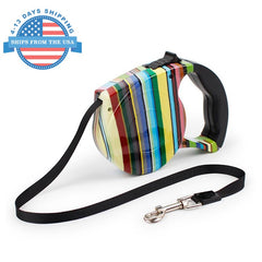 Automatic Retractable Pet Leash Stripes Collars / Leashes