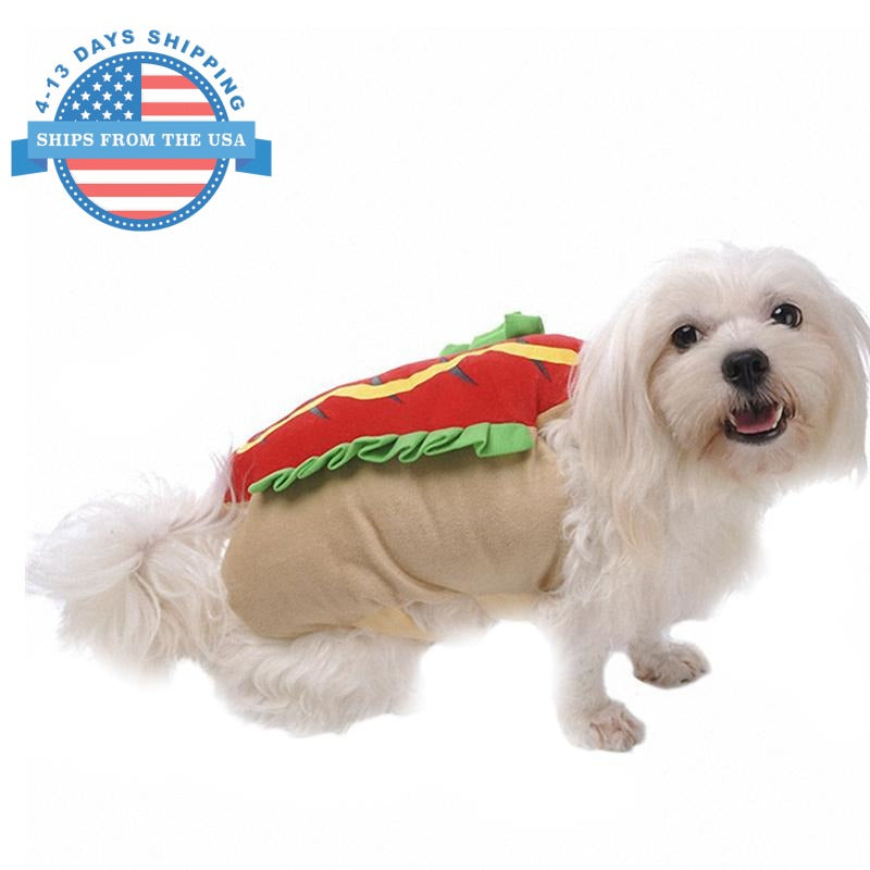 Cosplay For Pets Hot Dog / S Clothes