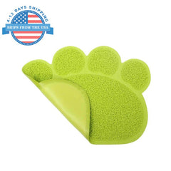 Paw Shape Feeding Mat Green Accessories