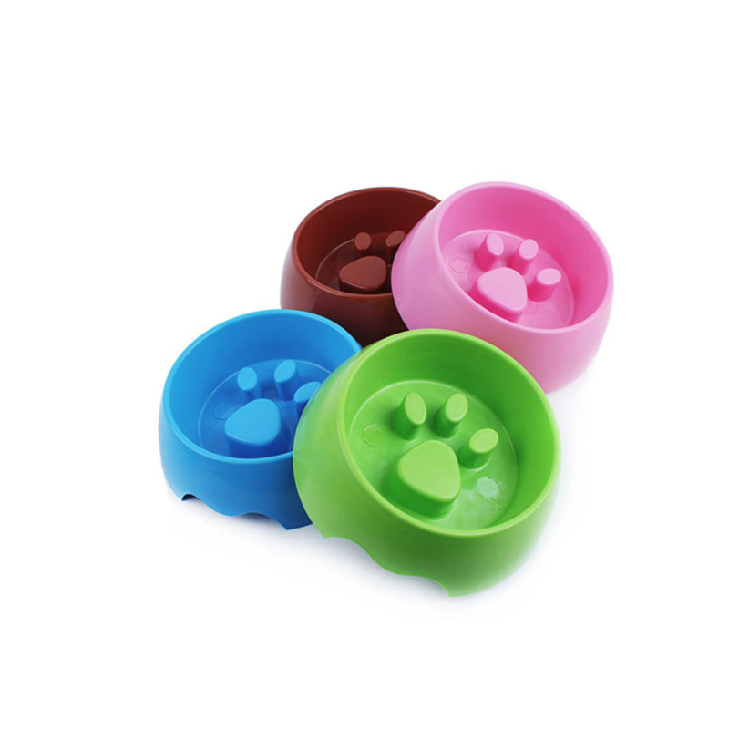 Paw Print Plastic Feeding Bowl (All Proceeds Go Towards Saving Animals)!