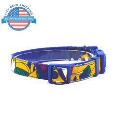 Fun Printed Collars For Pets Blue Pattern / Leashes