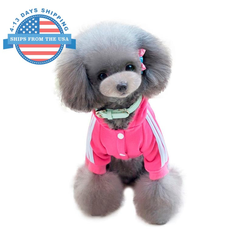 Sports Dog Costume Pink / L Clothes
