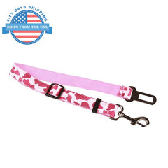 Camouflage Car Seat Belt Lead Clip For Pets Pink Collars / Leashes