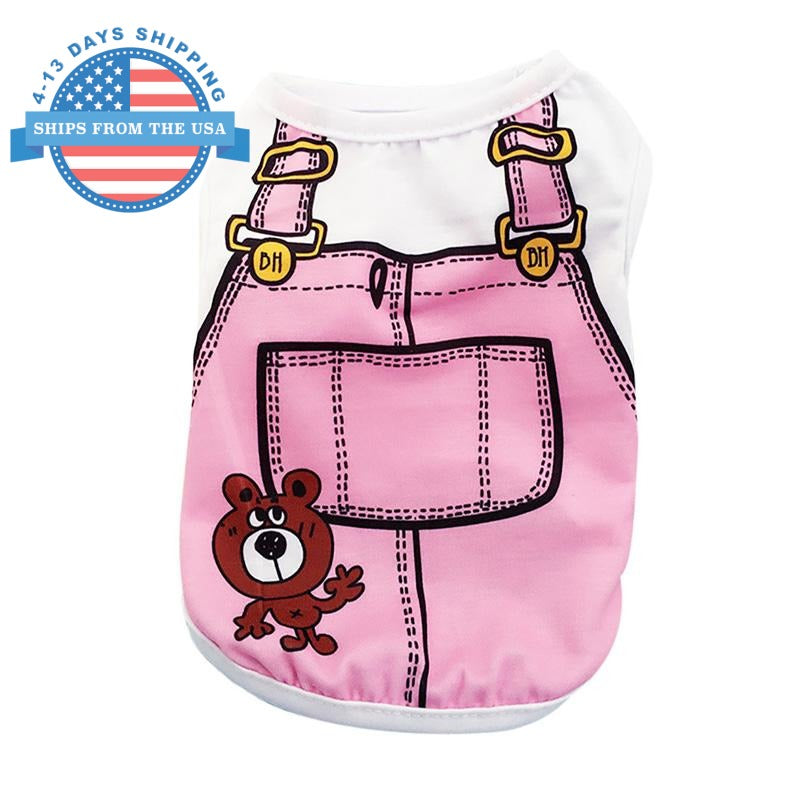 Jumper Print Comfortable Doggie Wear Baby Pink / L Clothes
