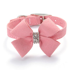 Rhinestone Bow Collar
