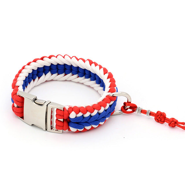 Patriotic Handmade Paracord Collar and Leash