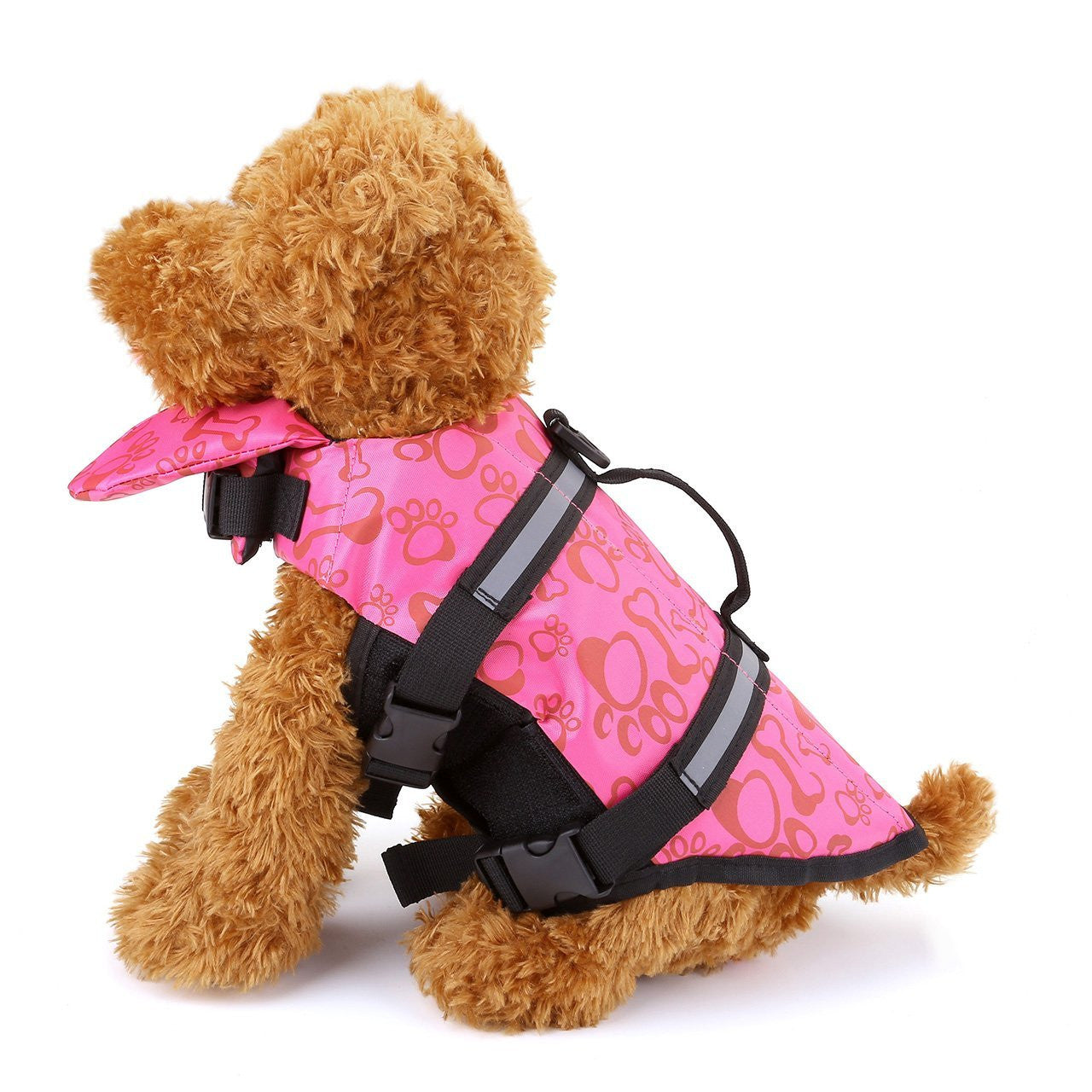 Dog Jacket High Visibility Colors With Multiple Reflective Strips