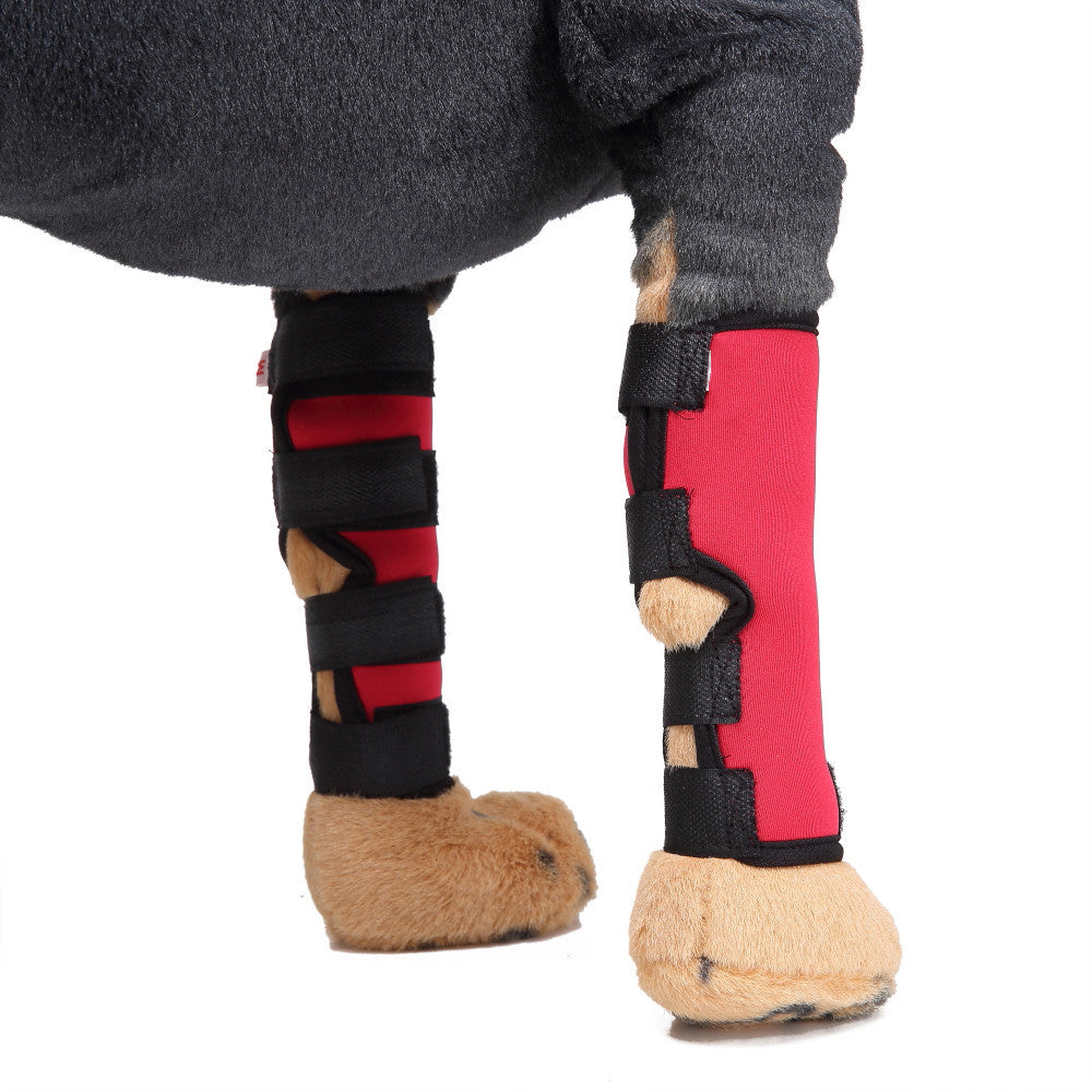 Extra Supportive Dog Canine Rear Leg Hock Joint Wrap Protects Wounds