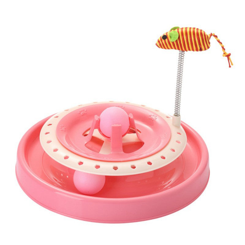 "Double Turntable Cat Toy ""All Proceeds Goes Towards Saving Animals"""