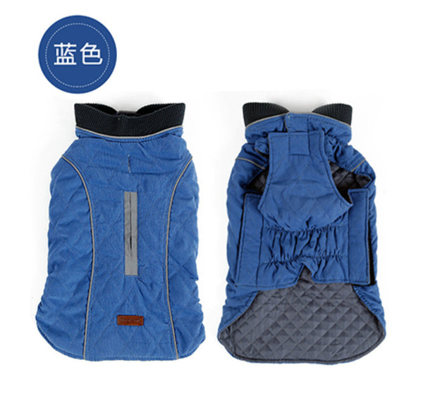 Winter Quilted Dog Coat Water Repellent Winter Dog