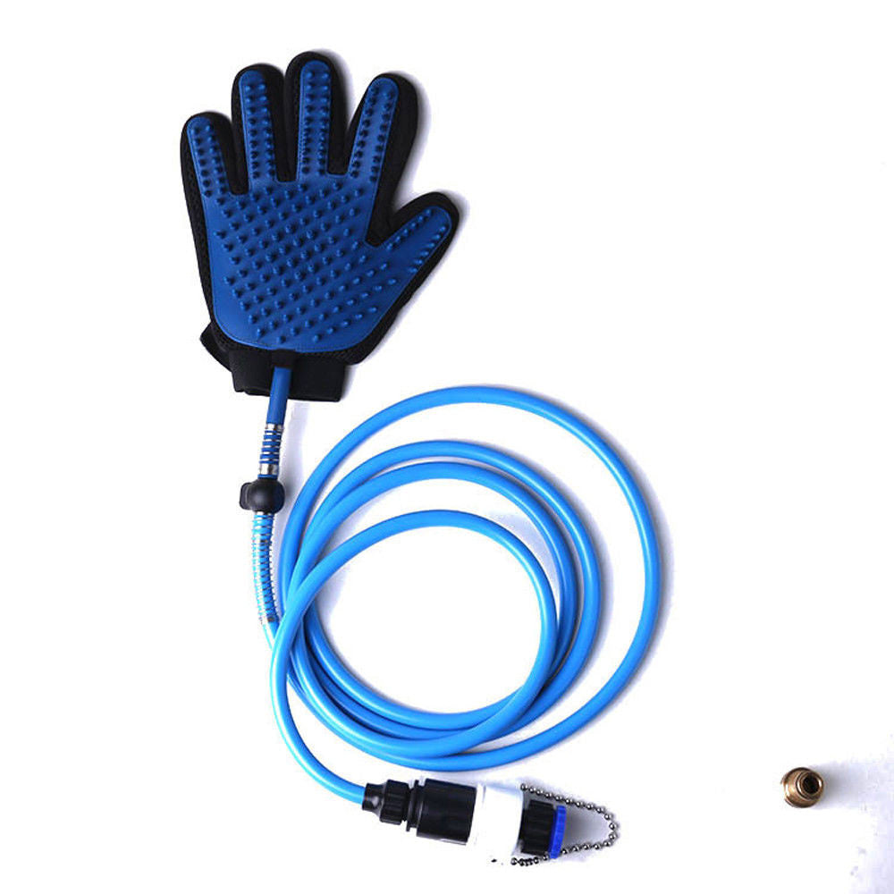 Pet Bathing Glove Tool Pet Shower Sprayer Wash/Massage Tool for Shower Bath Tub or Outdoor Garden Hose Compatible Dog Cat Grooming Glove