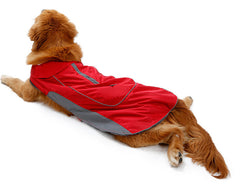 Winter Warm Waterproof Large Dog Coat with Harness Hole