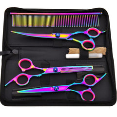 Clippers For Dogs Scissors Pet Grooming Shaved Hairdressing Tool Bent 9 PCS/SET