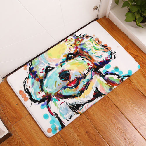 Big Face Dog Anti slip Floor Mat -All Proceeds Goes Towards Saving Animals