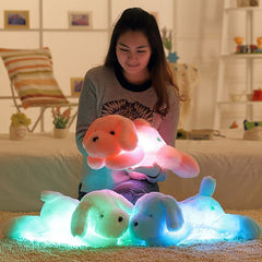 50CM Creative toy Cute Inductive dog nightlight plush toy LED glow pillow soft light up stuff toy dog pet