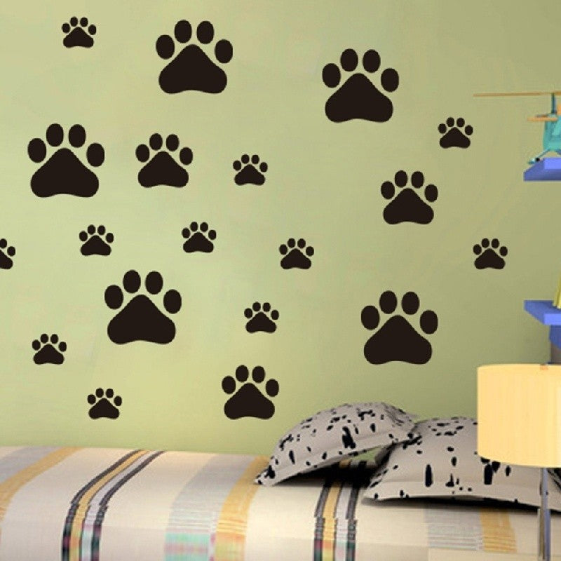 Dog Paw Print Decals Pet Animal 1.5 or 2.5 Wall Window Floor Stickers Big Set