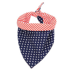 Dog Bibs Dog Saliva Towel Cute American Flag Soft Cotton Triangular Towel for Small Medium Pet