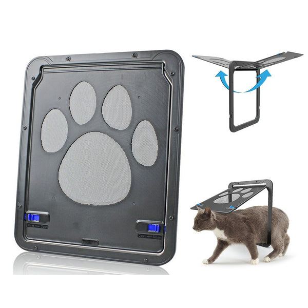 Dog Screen Door Automatic Lock Sliding Window Screen Door Protector for Dogs Cats Pets