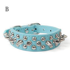 Leather Studded Spiked Collar (All Proceeds Go Towards Saving Animals)!