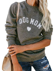 "DOG MOM Long Sleeve Sweater ""All Proceeds Goes Towards Saving Animals"""