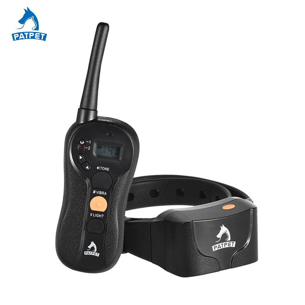 No Shock Dog Training Collar Beep/Vibra/Light Anti Bark Collar Waterproof Rechargeable 656yd Remote 16 Vibra Intensity Level