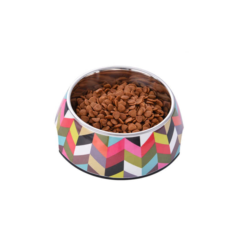Retro Non-Slip Steel Dog Feeder