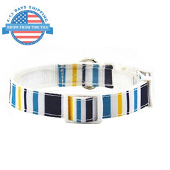 Fun Printed Collars For Pets White Stripes / Leashes