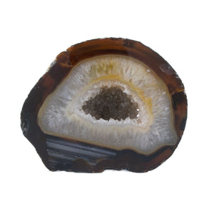 Agate Geode Natural Brown from Brazil