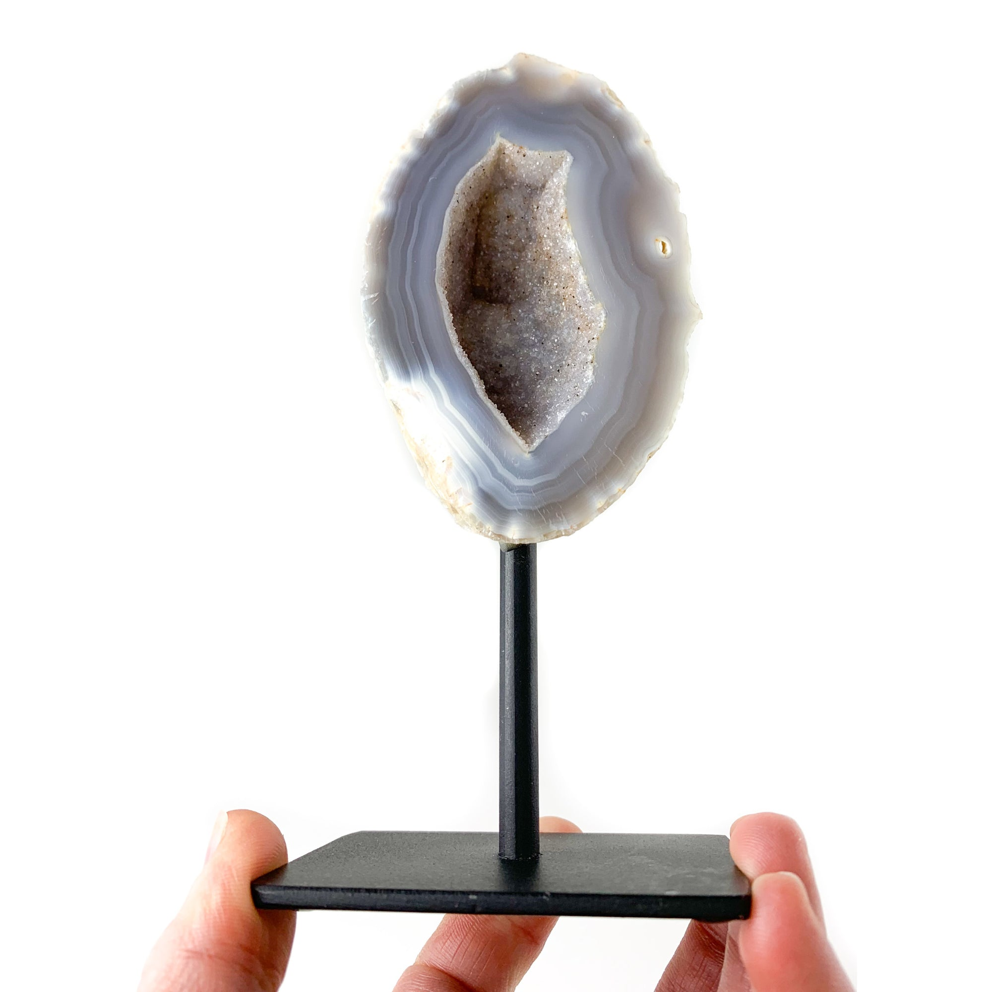 Geode on Metal Stand
