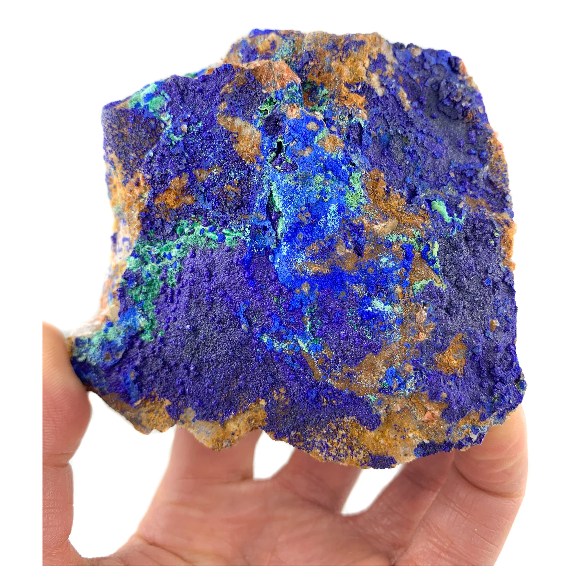 Azurite and Malachite Mineral Specimen from Morocco