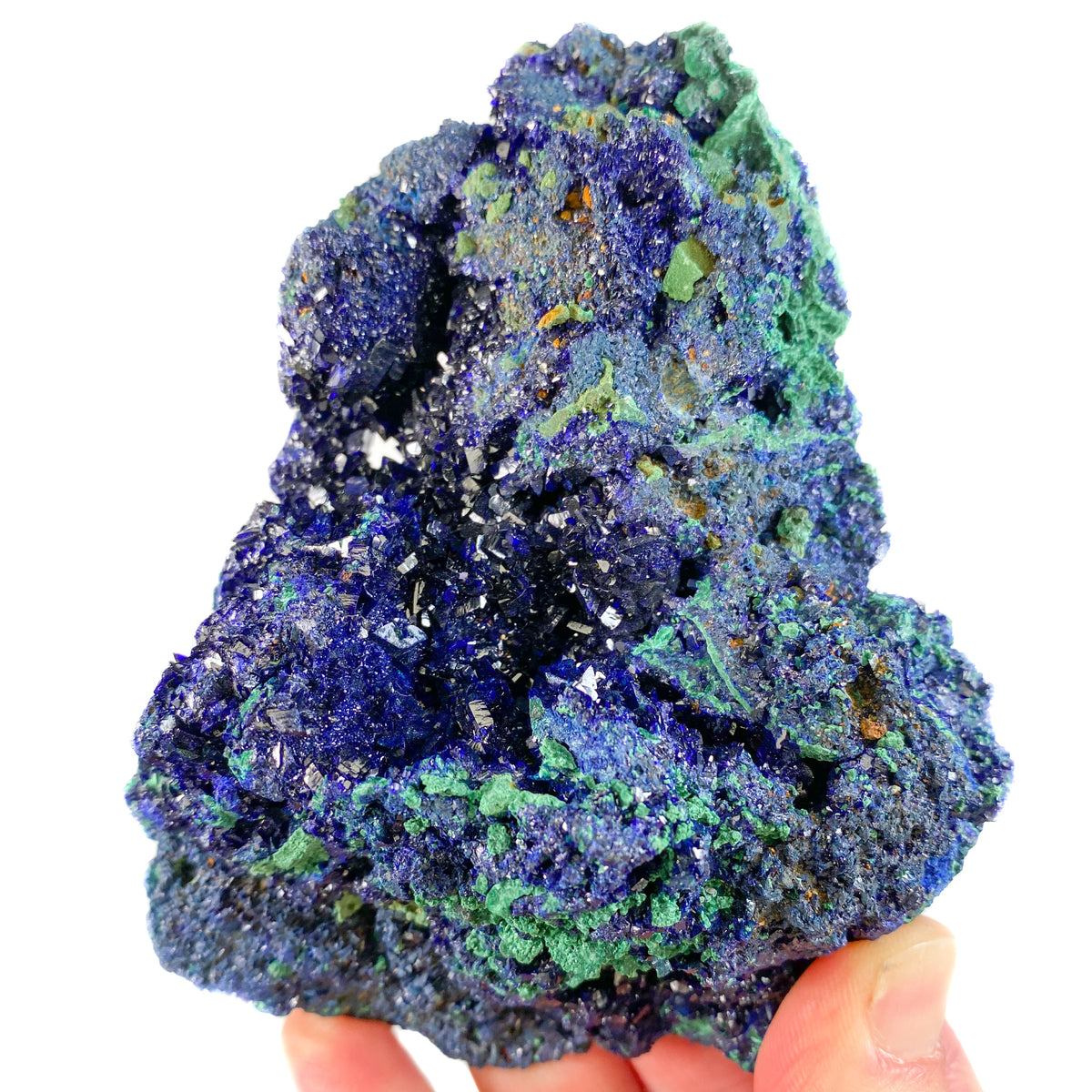 Azurite Crystals with Malachite from China