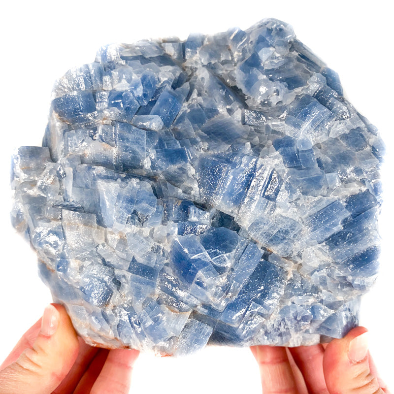 Large Raw Blue Calcite Crystal Mexico