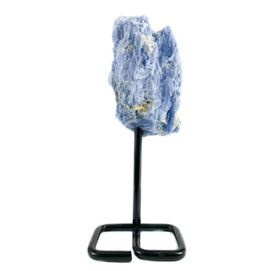 Raw Blue Kyanite on Metal Stand