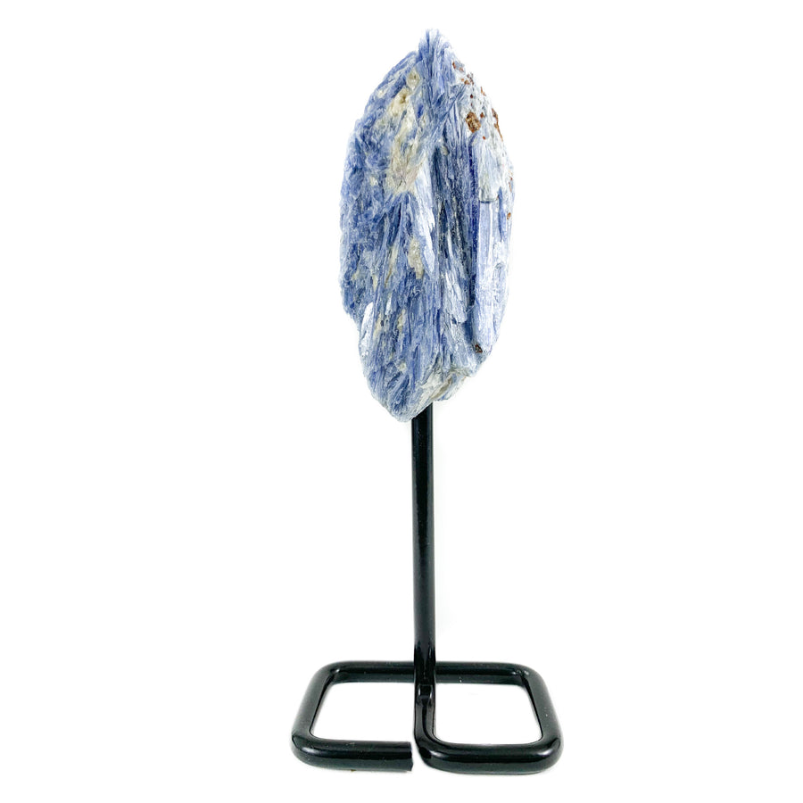 Blue Kyanite on Metal Stand