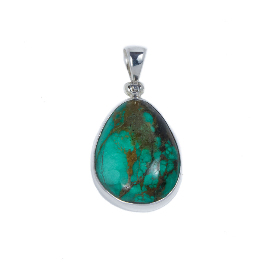Chrysocolla (green) Pendant in Sterling Silver