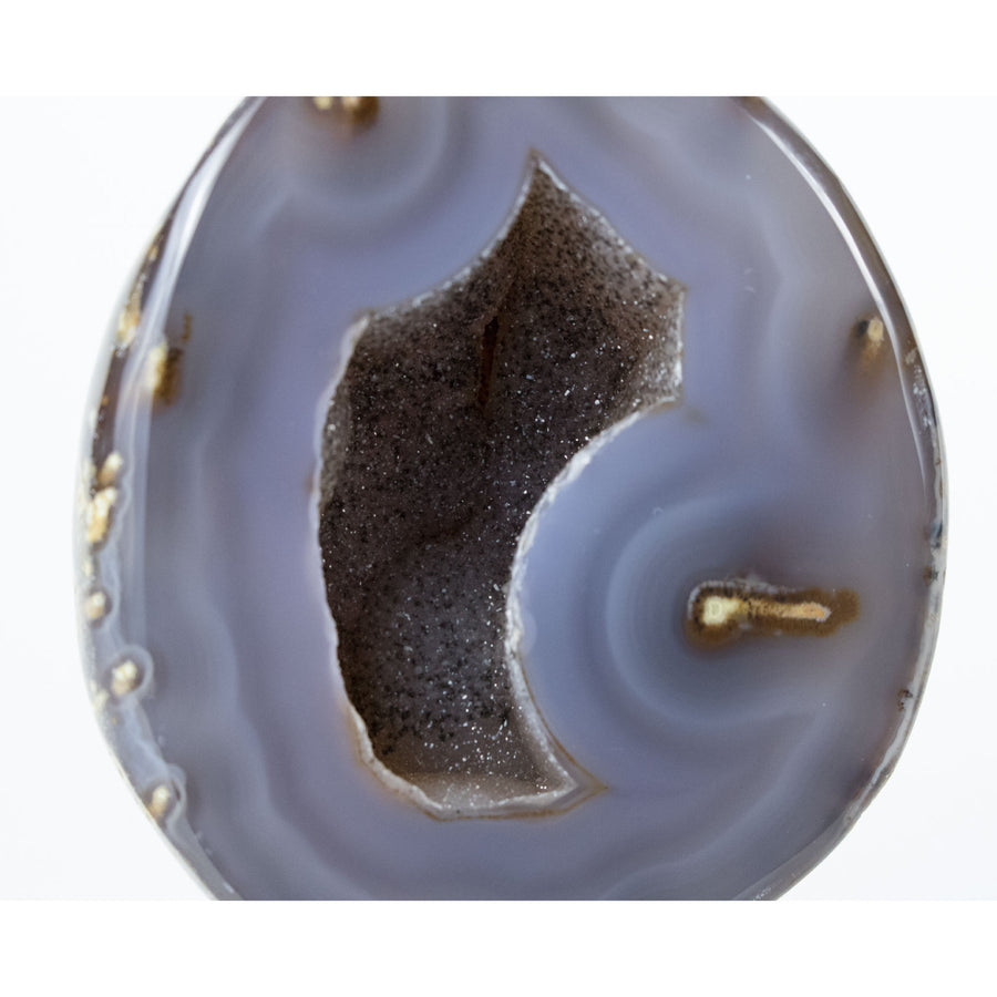 Geode Natural Cut and Polished on Metal Stand from Brazil