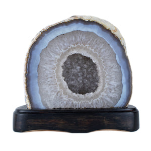 Large Geode on Wood Base