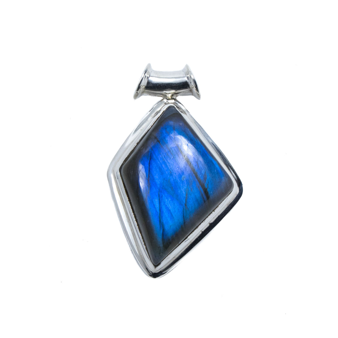 "Labradorite Pendant in Sterling Silver with Blue ""Flash"""