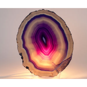 Large Purple Agate Slice from Brazil