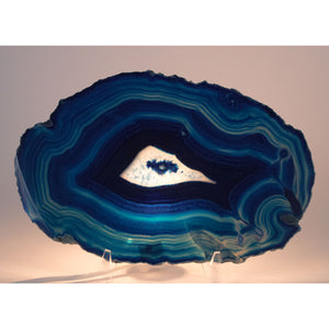 Large Blue Agate Slice from Brazil