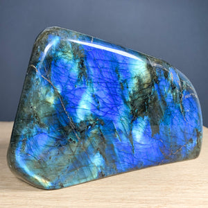 Blue and Gold Labradorite Stone from Madagascar