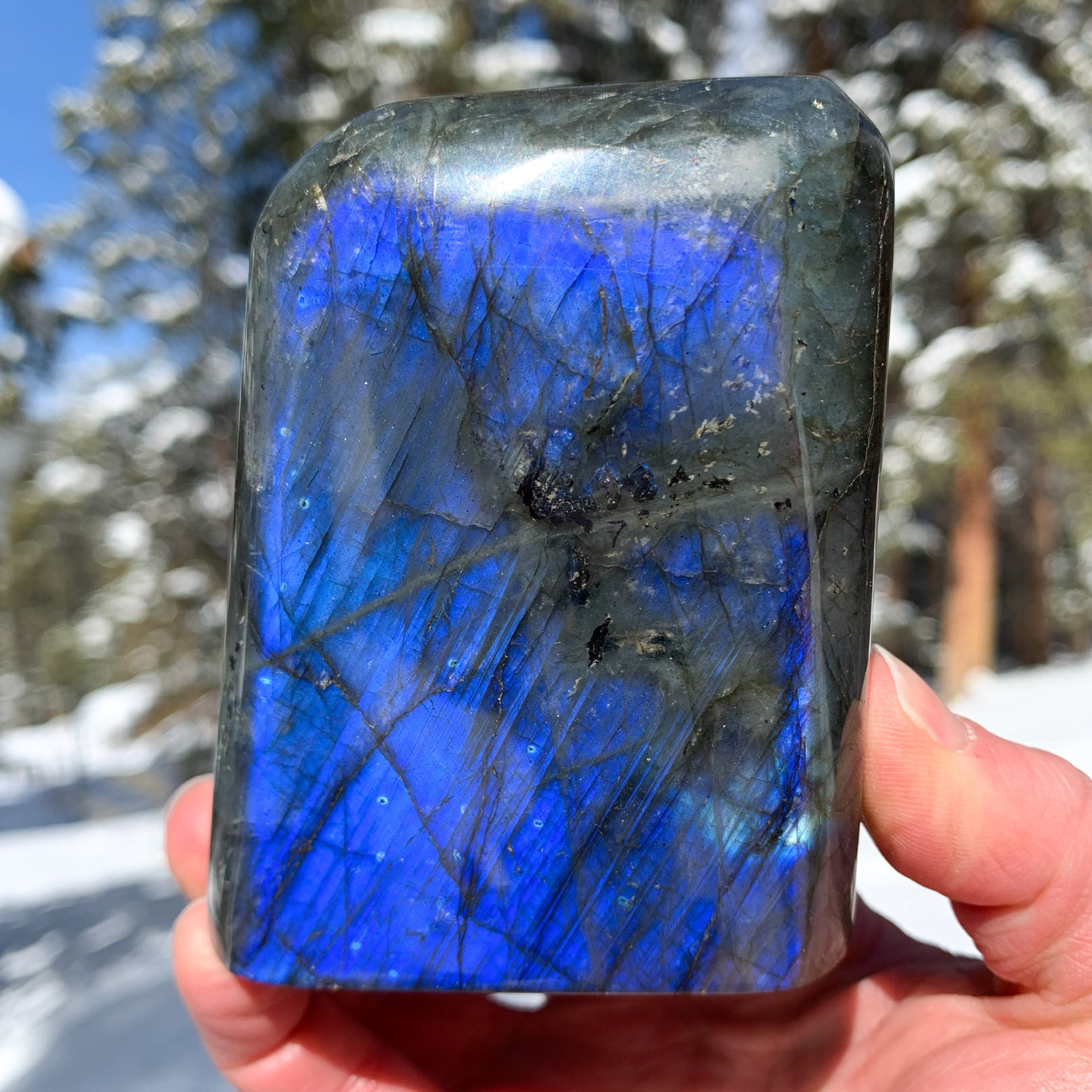 Labradorite Blue Flash Stone from Madagascar
