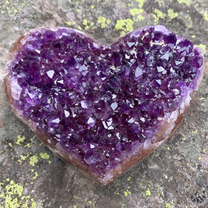 Purple Crystal Geode Heart