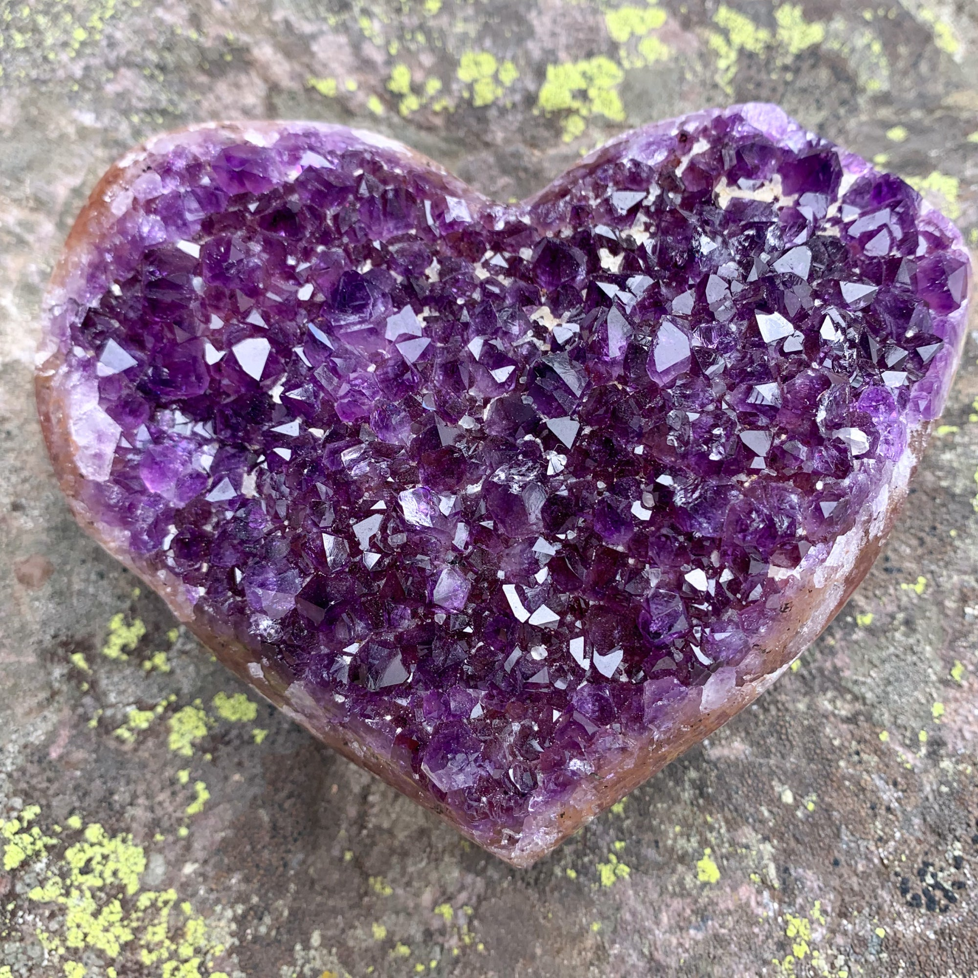 Large Amethyst Geode Crystal Heart