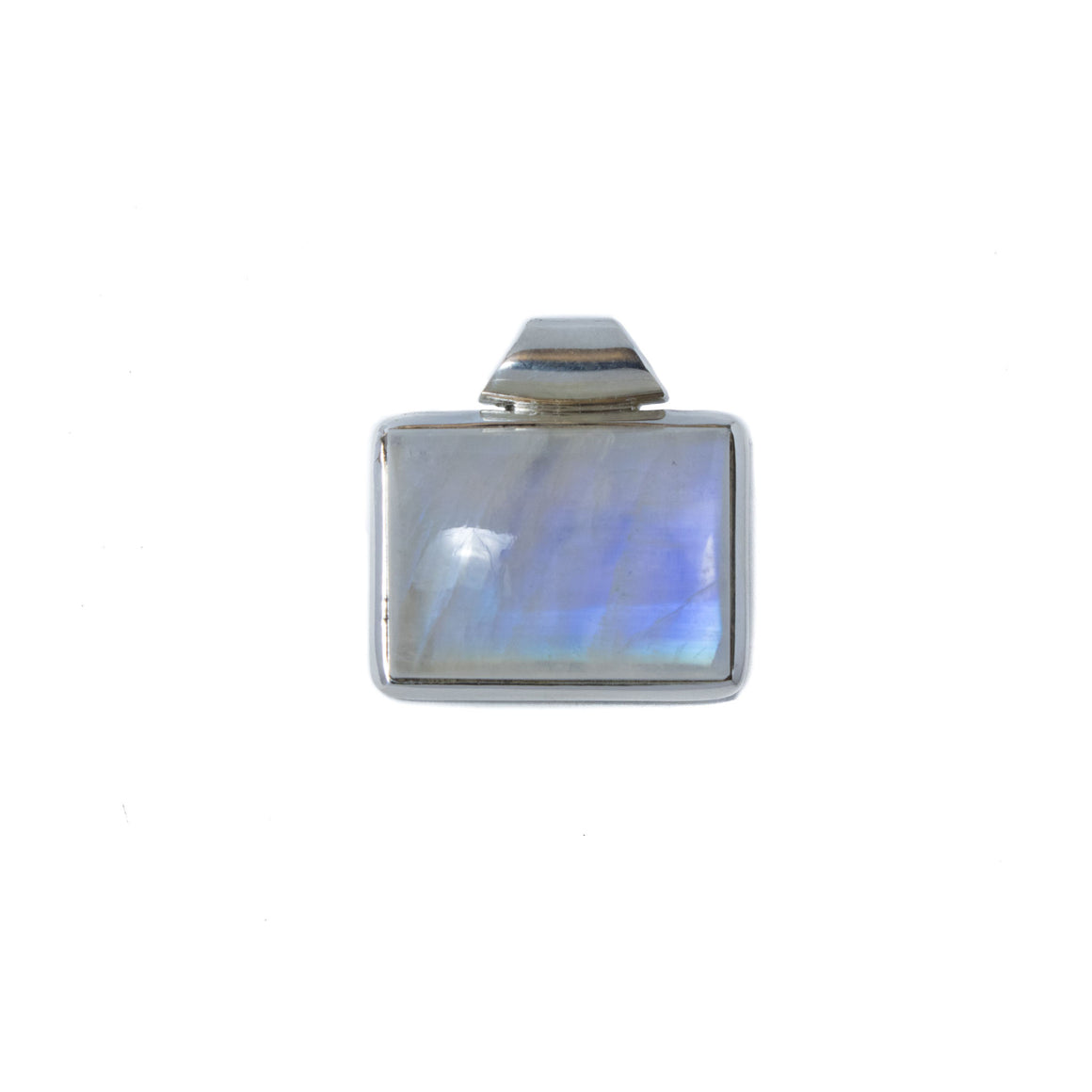 Rainbow Moonstone Pendant in Sterling Silver
