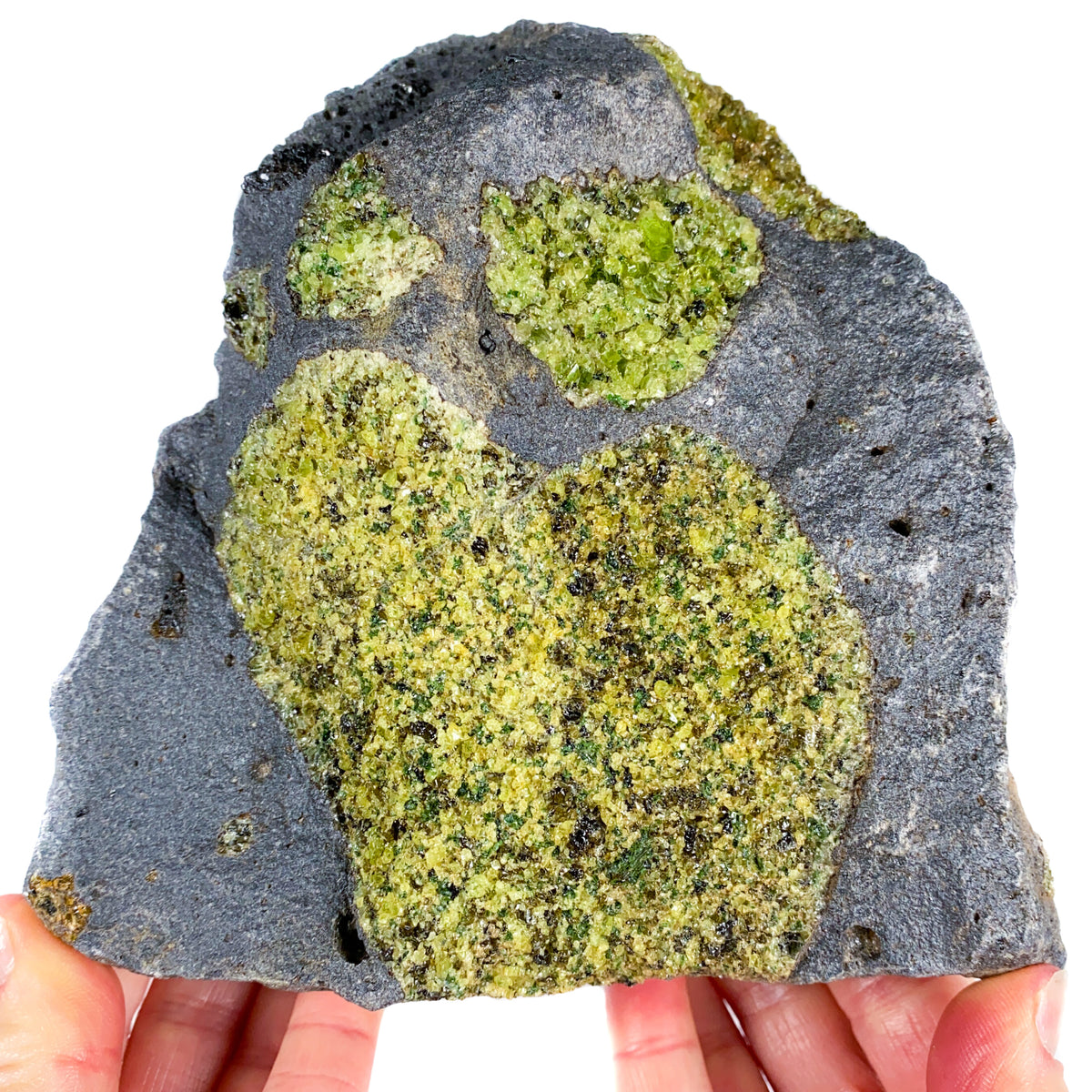 Large Peridot (Olivine) in Basalt Rock Matrix Mineral Specimen from Arizona