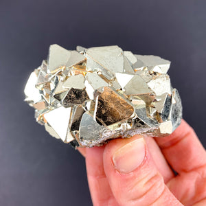 Pyritized Crystal Cluster