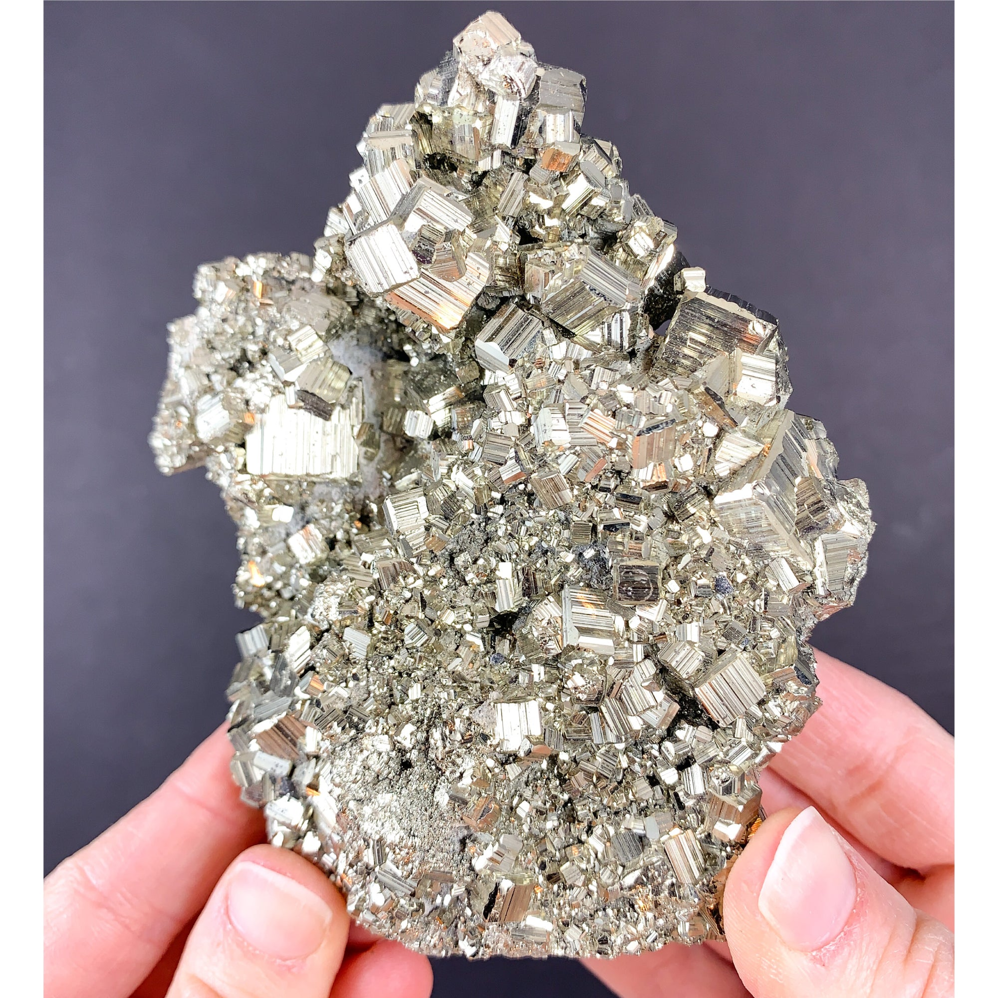 Large Pyrite Crystal Cluster