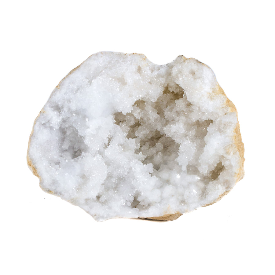 Quartz Geode with White Crystals from Morocco
