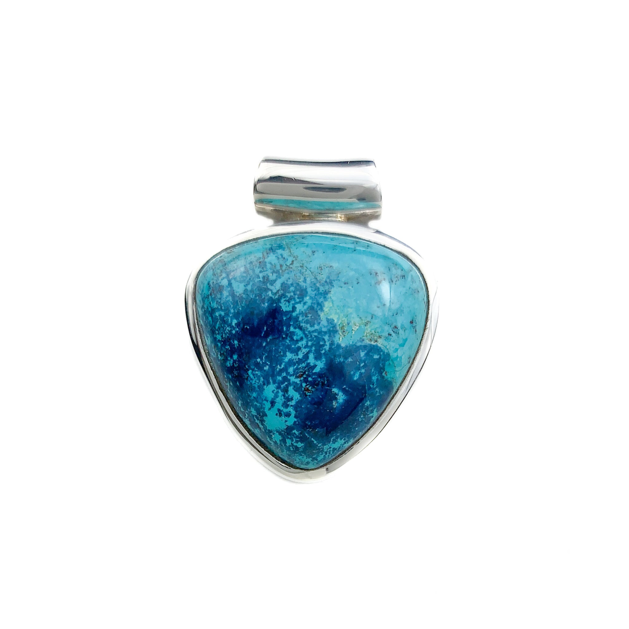 polished and fitted with Cord Shattuckite Pendant